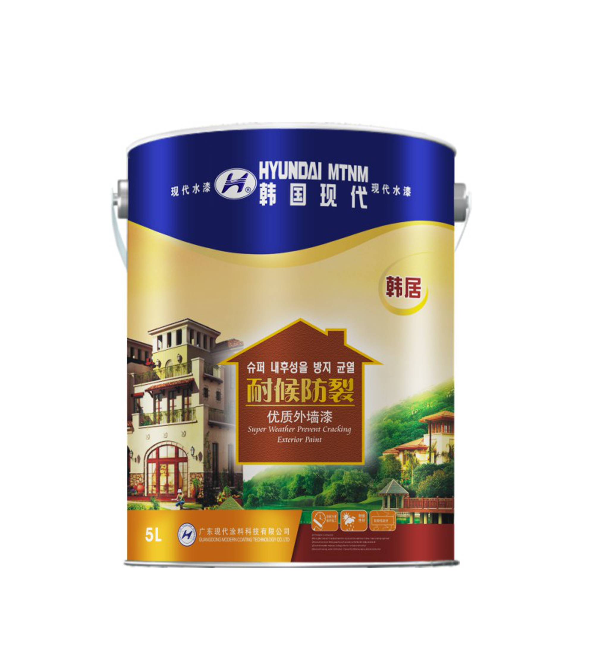 韩居 防裂耐候优质外墙漆